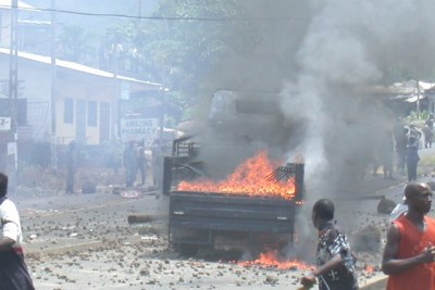 Prvious demonstrations in Buea (file photo).