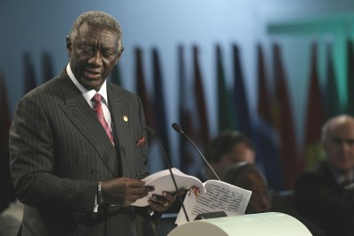 Former President of Ghana at the 2007 EU-Africa summit.