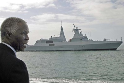 South Africa- Navy President Mbeki and the SAS Amatola (file photo).
