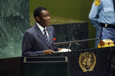 President of Equatorial Guinea addresses UN General Assembly.