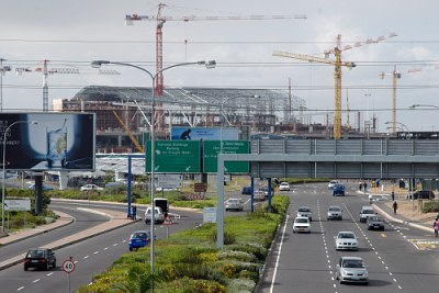 Construction work n South Africa.