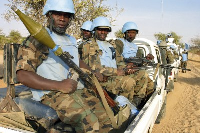 UN peacekeepers in Sudan (file photo).