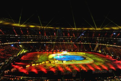 A general view of the 2010 FIFA World Cup Closing Ceremony.