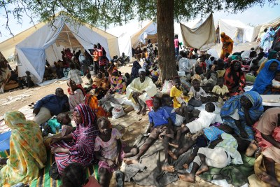 Displaced by conflict in Kadugli (file photo): The shelling caused widespread panic and terror among residents as they fled in different directions.