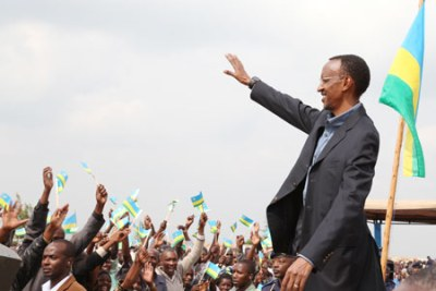 Rwandan President Paul Kagame (pictured) has described the relationship between his country and the Republic of Congo as good (file photo).
