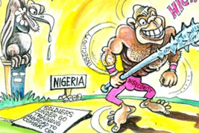 Cartoon on terrorism in Nigeria