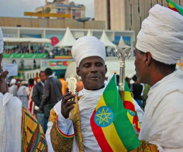 Ethiopian Christians celebrate discovery of Jesus crucifix