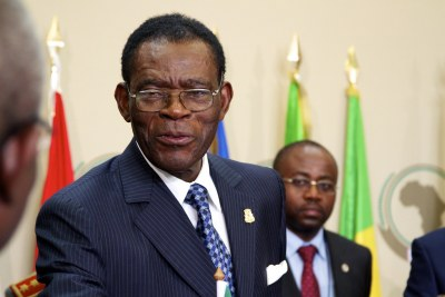 President Teodoro Obiang of Equatorial Guinea.