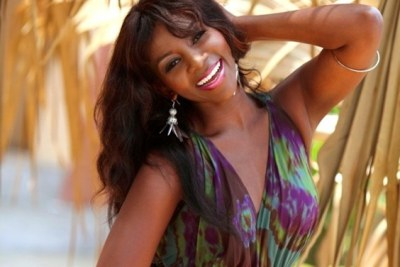 Nigerian actress Genevieve Nnaji was the face for a  make-up  label.