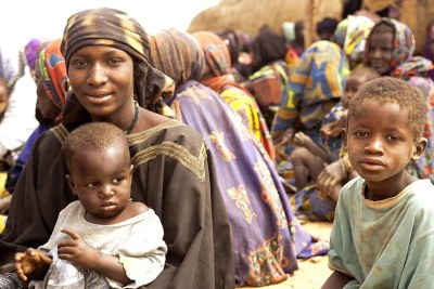 Hundreds of families have crossed the border from Mali into Niger to escape the fighting in the northern part of the country.