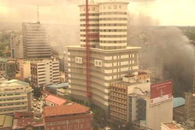 Smoke from a bomb that ripped through a Nairobi shopping center that Al Shabaab took reponsibility for (file photo).