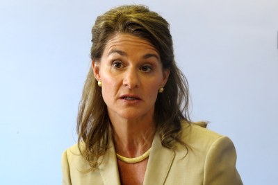 Melinda Gates promoting family planning in London.