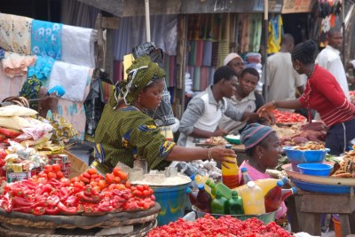 A market in Nigeria (file photo)