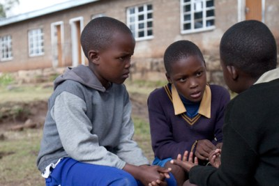 File Photo:Children having an after-school psychosocial support group to discuss school work