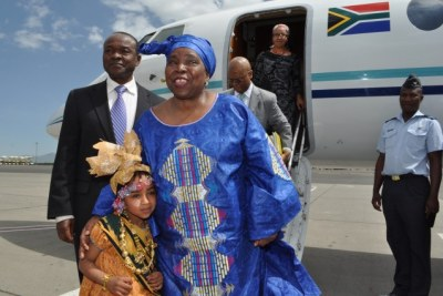 Arrival of the New Chairperson of the African Union Commission, Dr. Nkosazana Dlamini Zuma to Addis Ababa, Ethiopia