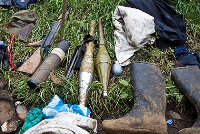 Ammunition seized from rebels.
