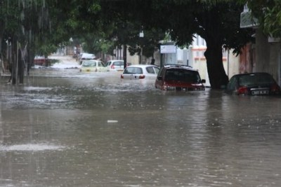 Floods  in the Mauritian capital, Port-Louis (file photo).