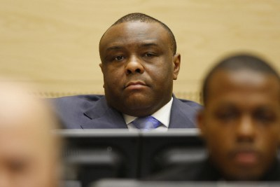 Former Congolese rebel warlord and vice-president Jean-Pierre Bemba appears before the global war crimes court in the Hague January 12, 2009.