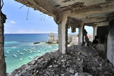 Once one of Mogadishu's most luxurious hotels, the Al-Uruba lays in ruins after two decades of civil war.