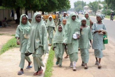 Hundreds of girls kidnapped from school (file photo).