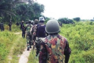 Nigerian army searches for Chibok girls.