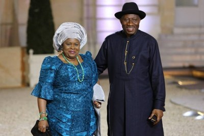 Patience Jonathan and Goodluck Jonathan.