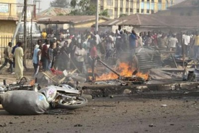 Explosion in Maiduguri (file photo).