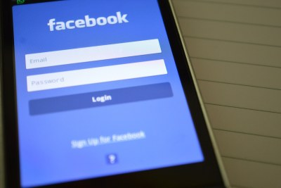 Smartphone accessing Facebook's mobile site.
