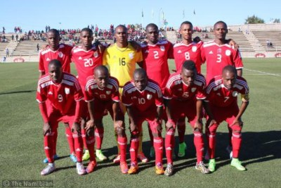 The Namibian senior soccer team (file photo).