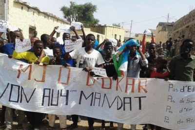 A protest in Djibouti earlier in 2015.
