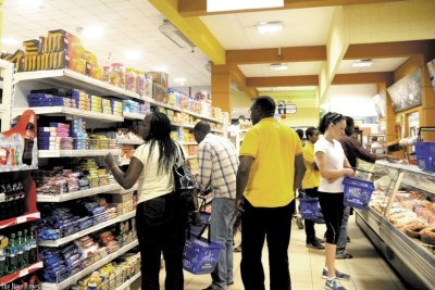 Shoppers at a city supermarket (file photo).