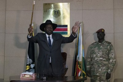 South Sudan leader Salva Kiir Mayardit.