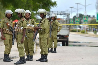 Some members of the aniti-riot Field Force Unit (file photo).