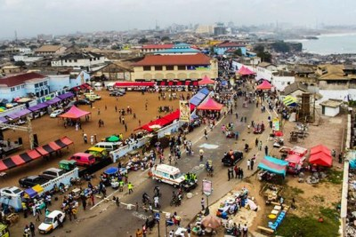 A bird's eye view of parts of Accra (file photo).