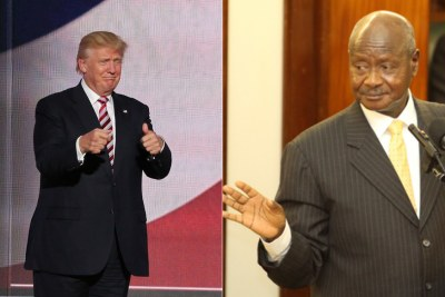 Donald Trump and Yoweri Museveni.