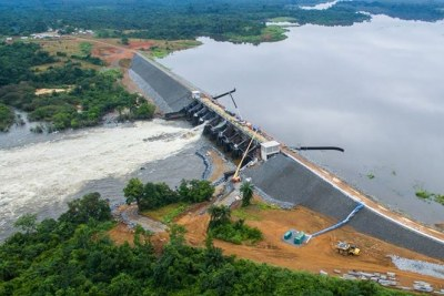 Mt coffee hydropower dam, Liberia's biggest post-war infrastructure project, comes back on after 25 yeaars.