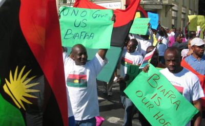Pro-Biafra Women Protest Half-Naked Against Nigerian Army