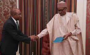 Nigerian Central Bank Governor Briefs Buhari Over Forex Crisis