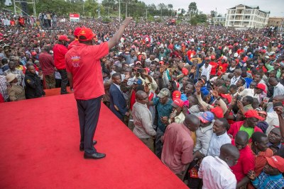 President Kenyatta said inciting sentiments like those issued by opposition leader Raila Odinga in Kajiado were a recipe for violence, which Kenyans must reject.