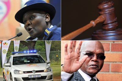 Riah Phiyega, former national police commissioner and Richard Mdluli, former crime intelligence boss.