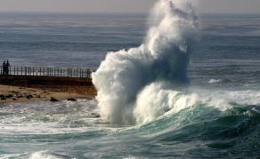 High Waves Lash South African Coast