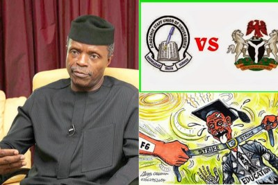ASUU Strike - Osinbajo to lead govt negotiation team.