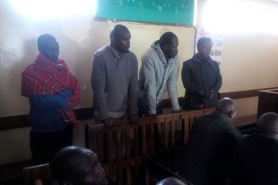 The four suspects appear before Nakuru Chief Magistrate Josephat Kalo on November 7, 2017.