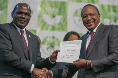 Independent Electoral and Boundaries Commission boss Wafula Chebukati declares Uhuru Kenyatta winner of the October 26 repeat poll. Kenyatta garnered 7,483,895 votes accounting for 98.26% of the total votes cast.
