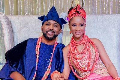 Musician Banky W weds.
