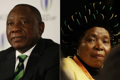Left: Deputy President Cyril Ramaphosa. Right: ANC MP Nkosazana Dlamini-Zuma.