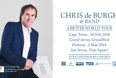 Chris De Burgh on his A Better World Tour.