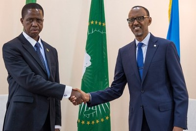 President Paul Kagame and Edgar Lungu.