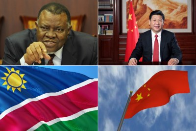 Namibian President Hage Geingob and President of the People's Republic of China, Xi jinping