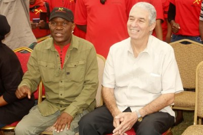 Cuban Ambassador Nelson Pages Vila and Socialist Party leader Fred M'membe.